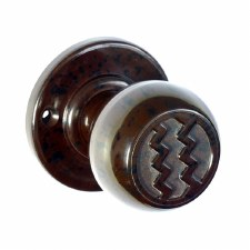 BROLITE 6822 Real Bakelite Door Knobs Walnut