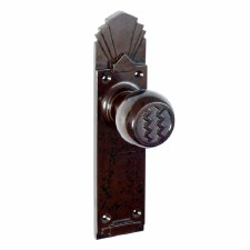 BROLITE 6852 Real Bakelite Door Knobs Walnut