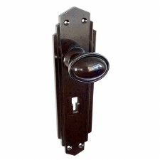 BROLITE 6855 Real Bakelite Door Knobs Walnut