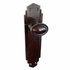 BROLITE 6861 Real Bakelite Door Knobs Walnut