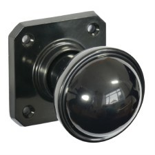 BROLITE 6868 Real Bakelite Door Knobs Black