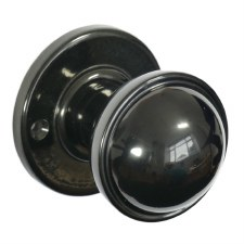 BROLITE 6870 Real Bakelite Door Knobs Black