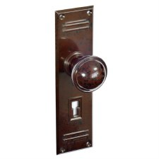BROLITE 6872 Real Bakelite Door Knobs Walnut