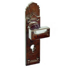BROLITE 6890 Real Bakelite Door Knobs Walnut