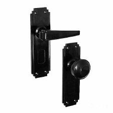 BROLITE 6906 Real Unsprung Bakelite Door Handle & Knob Black