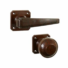 BROLITE 6909 Real Bakelite Unsprung Door Handle & Knob Walnut
