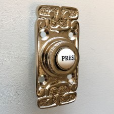 Art Nouveau Bell Push Polished Nickel