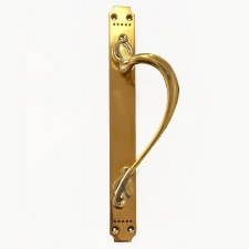 Door Pull Handle Decorative Renovated Brass Right Hand