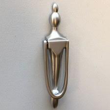 Slim Victorian Urn Door Knocker Satin Chrome