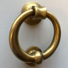 Ring Door Knocker Heavy 103mm Antique Satin Brass