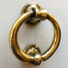 Ring Door Knocker Heavy 103mm Renovated Brass