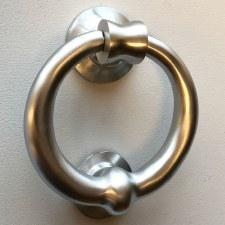 Heavy Ring Knocker 103mm Satin Chrome