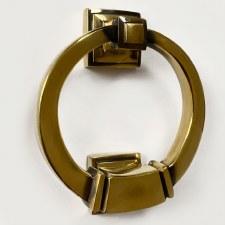 Period Ring Door Knocker Renovated Brass