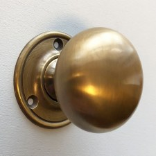 Plain Bun Knobs 50mm (Heavy) Antique Satin Brass