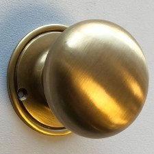 Plain Bun Knobs 60mm (Heavy) Antique Satin Brass