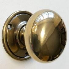 Plain Bun Knobs 60mm (Heavy) Renovated Brass