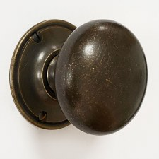 Victorian Bun Door Knobs 60mm Distressed Antique Brass