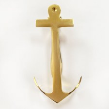Anchor Door Knocker Polished Brass