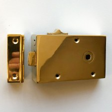 "Broughtons 5"" Bathroom Rim Latch RH Polished Brass Unlacquered"