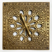 Cast Victorian Decorative Air Vent Antique Satin Brass