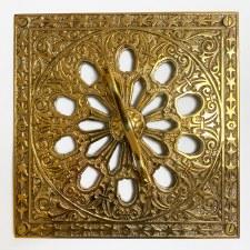 Cast Victorian Decorative Air Vent Polished Brass