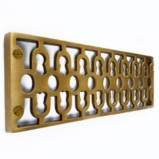 Cast Air Vent Decorative Antique Satin Brass