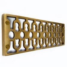 Cast Air Vent Decorative Antique Satin Brass