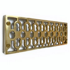 Cast Air Vent Decorative Polished Brass