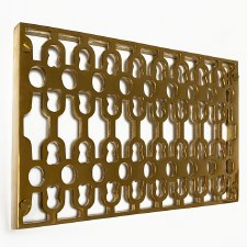 Double Cast Air Vent Decorative Polished Brass