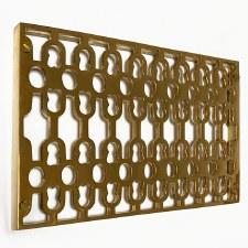 Double Cast Air Vent Decorative Polished Brass