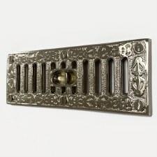 Cast Decorative Hit & Miss Air Vent Vintage Nickel