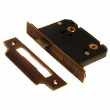 76mm Bathroom Door Lock 5mm Spindle Hand Aged