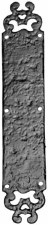 Kirkpatrick 770 Series Finger Plate Decorative Antique Black