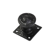 Kirkpatrick 808 Door Knob on Square Plate Antique Black