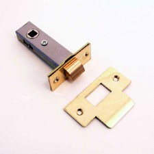 Tubular Mortice Door Latch 80mm Polished Brass Unlacquered