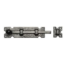"Kirkpatrick 812 Straight Door Bolt 10"" Antique Black"