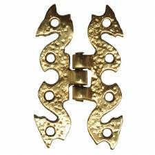 "Kirkpatrick B926 Snake Hinge 3.1/2"" Hammered Brass"
