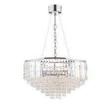 Laura Ashley Vienna 9 Light Crystal Pendant Polished Chrome