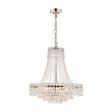 Laura Ashley Enid 5 Light Cut Glass Chandelier Medium