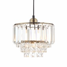 Laura Ashley Vienna Easy Fit Pendant Shade Antique Brass & Crystal