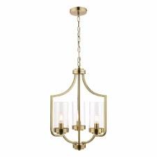 Laura Ashley Joseph 3 Light Chandelier Antique Brass