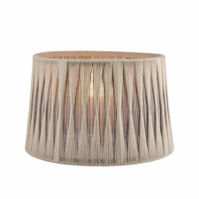 """Laura Ashley Pleated Shade 12"""" Grey and Charcoal"""