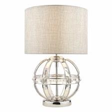 Laura Ashley Aidan Table Lamp Polished Chrome with Shade
