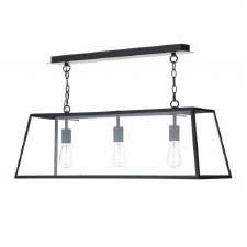 Academy 3 Light Ceiling Pendant Black
