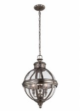 Feiss Adams 3 Light Pendant Chandelier Antique Nickel