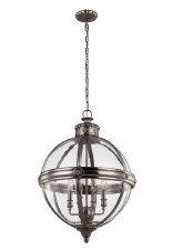 Feiss Adams 4 Light Pendant Chandelier Antique Nickel