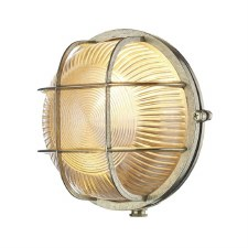 David Hunt ADM5040 Admiral Bulkhead Light Round Natural Brass IP64