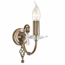 Elstead Aegean Single Wall Light Antique Brass