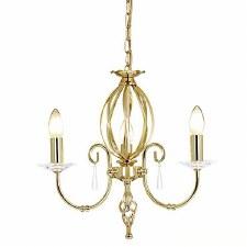 Elstead Aegean 3 Arm Chandelier Polished Brass