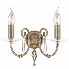 Elstead Aegean Double Wall Light Antique Brass